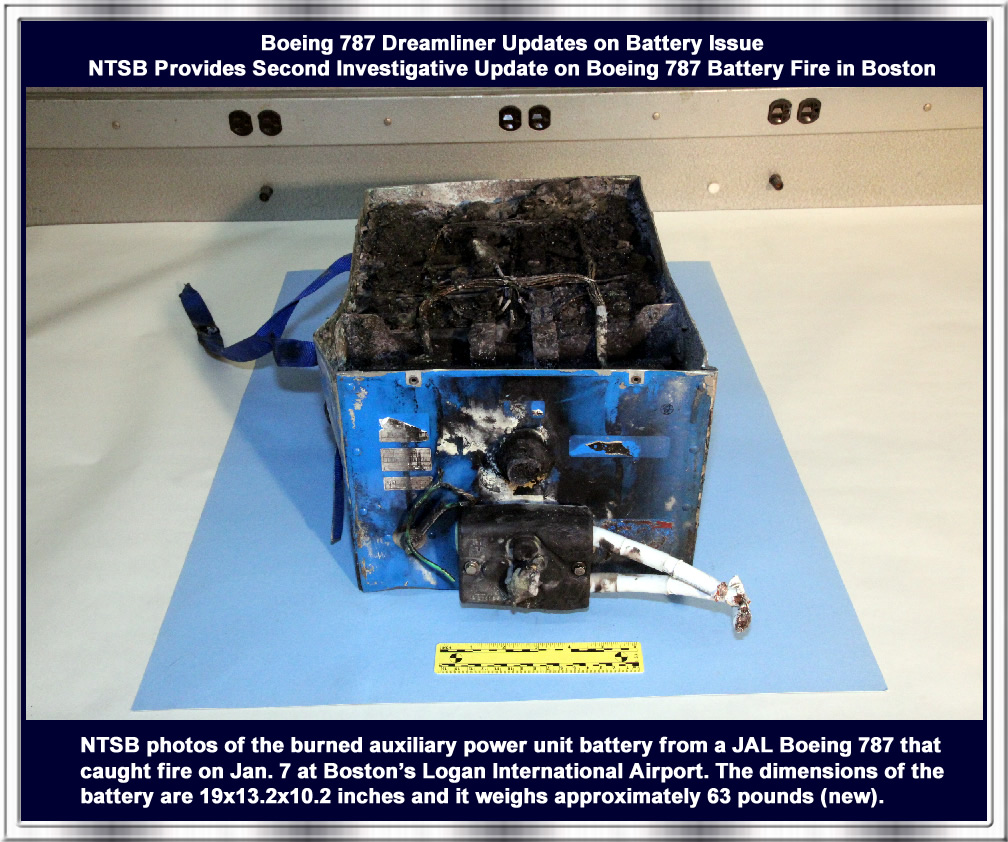 Boeing 787 Dreamliner Updates On Battery Issue Wiring Issues