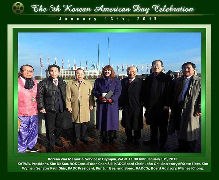 The 6th Korean American Day Celebration Korea War Memorial